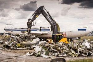 Verschrottung von 100 Tonnen Altmetall